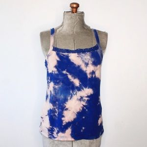 🎀 Custom Dyed Northern Reflections Blue Tank Top